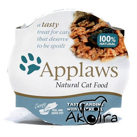 Applaws miska POT Cat 60g sardinky a makrely