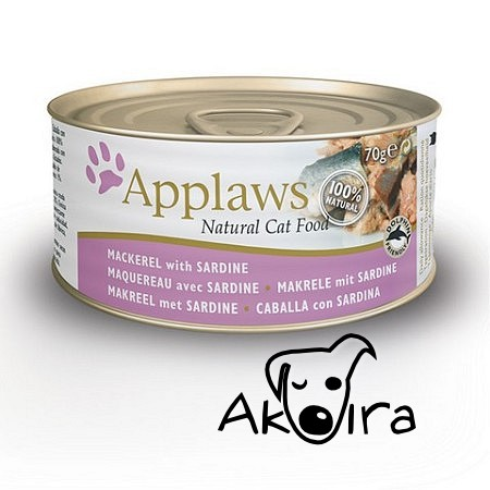 Applaws makrela a sardinky konzerva Cat 156g